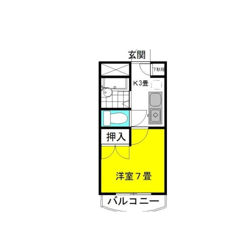 ミ・プリマヴェーラ 3階の物件の間取図