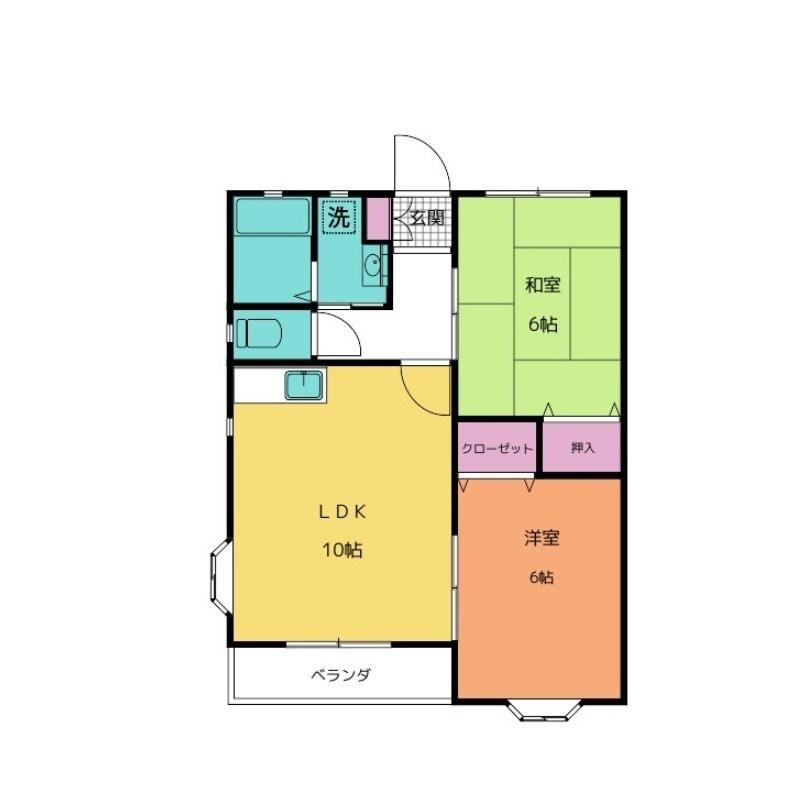 メゾン・ド・グレース Pt.1 2階の物件の間取図