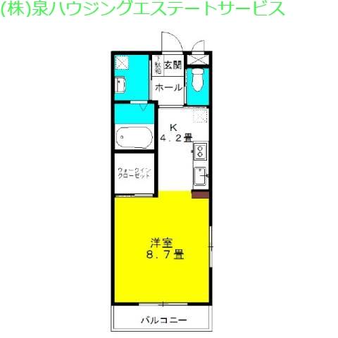 ラ・フォンテ スクェアⅠ 2階の物件の間取図
