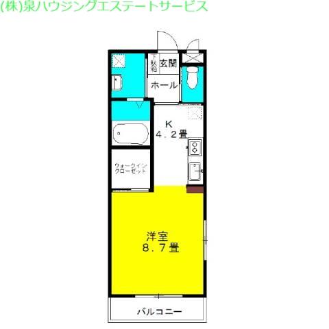 ラ・フォンテ スクェアⅠ 3階の物件の間取図