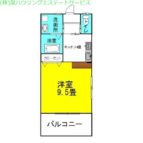 ラフォンテ・アネックス 2階の物件の間取図