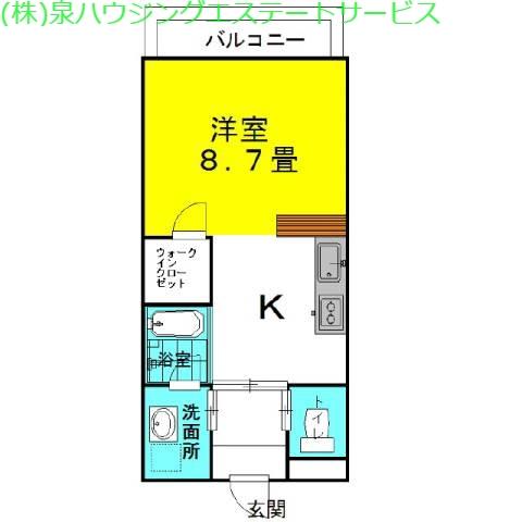 ラフォンテ・コンフォートヴィラ 2階の物件の間取図