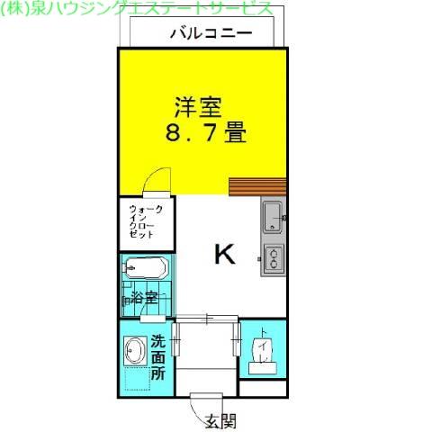 ラフォンテ・コンフォートヴィラ 3階の物件の間取図