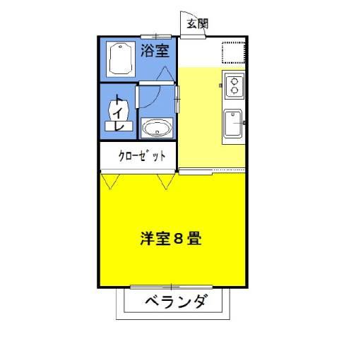ラフォンテ・チャオ1st 2階の物件の間取図
