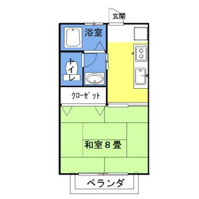 ラフォンテ・チャオ3rd 2階の物件の間取図