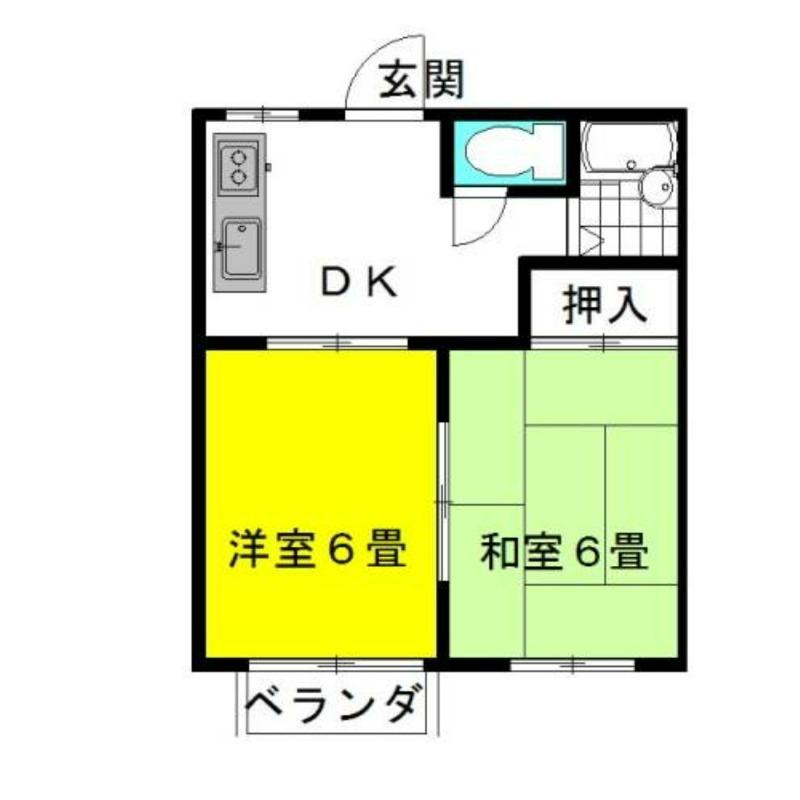 弐番館・飛龍A棟 1階の物件の間取図