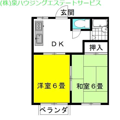 弐番館・飛龍A棟 2階の物件の間取図