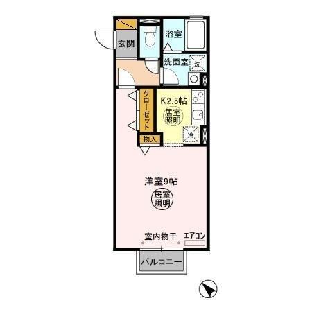 ルミエール 2階の物件の間取図