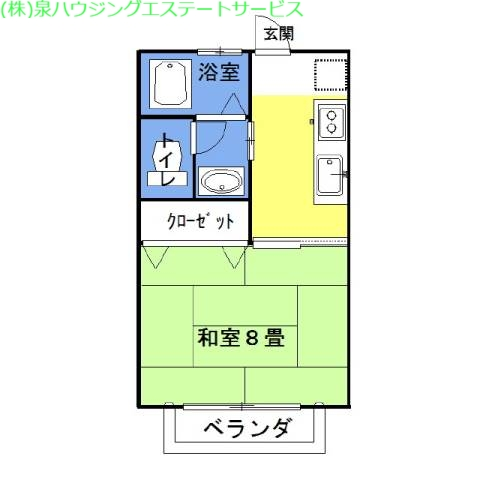 ラフォンテ・チャオ4th 2階の物件の間取図