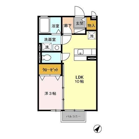 セピアコート Ⅰ 2階の物件の間取図