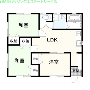 池田荘 1階の物件の間取図