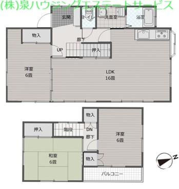 ラ・フォンテーヌ大野原 2階の物件の間取図