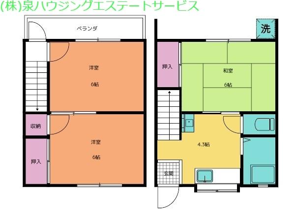 品川三喜コーポ 2階の物件の間取図