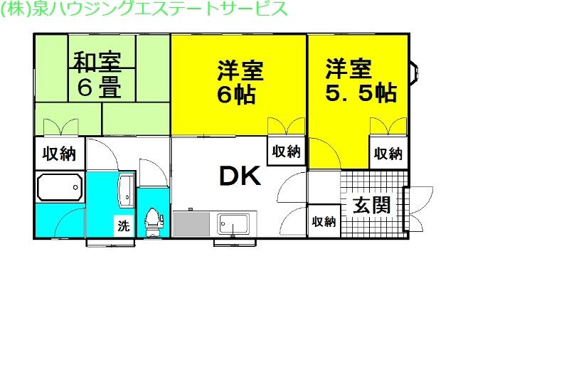 ミヤザワ荘 1階の物件の間取図