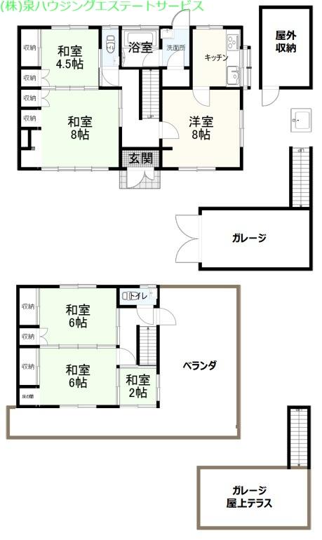 波岬豊ヶ浜の展望 1階の物件の間取図