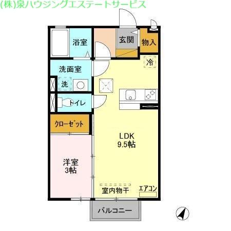 ポートスクエア A 1階の物件の間取図