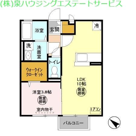 フラットフォンテーヌ 1階の物件の間取図