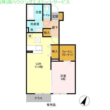 グラマードマレⅢ A 1階の物件の間取図