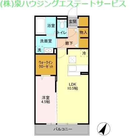 シエロ ル シャトー 1階の物件の間取図