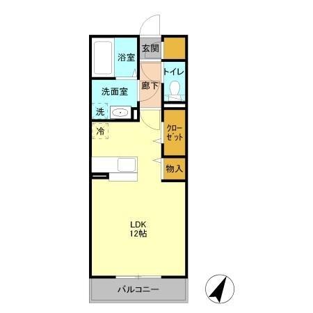 シエロ ル シャトー 2階の物件の間取図