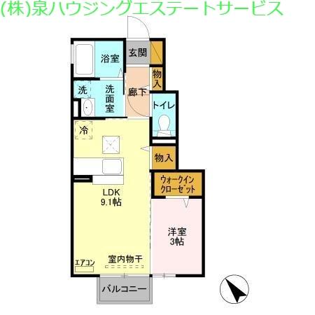 グランドゥール大野原 Ⅰ 1階の物件の間取図