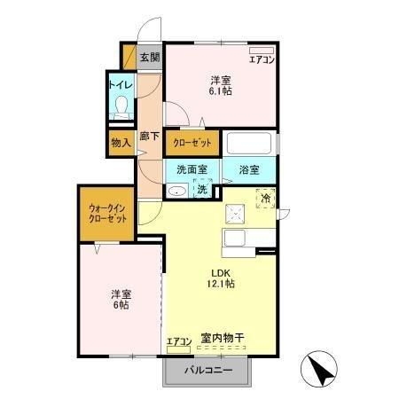 グランドゥール大野原 Ⅱ 1階の物件の間取図