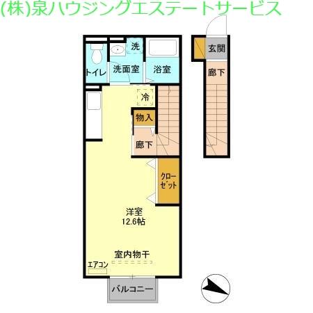 ロイヤル ブルー オーシャン A 2階の物件の間取図