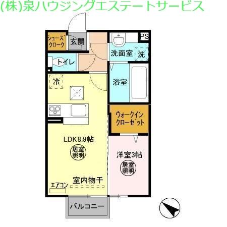 ラ・トゥール 二番館 1階の物件の間取図