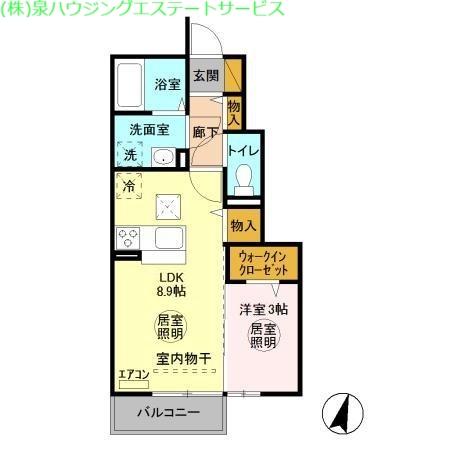 グランメール 1階の物件の間取図