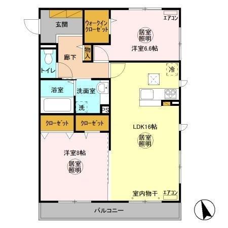 Casa(カーサ) EXE A(エグゼエー) 1階の物件の間取図