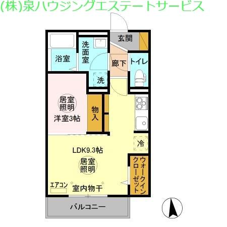 フォレストメゾン堀割 3階の物件の間取図