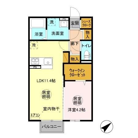 メイプル 2階の物件の間取図