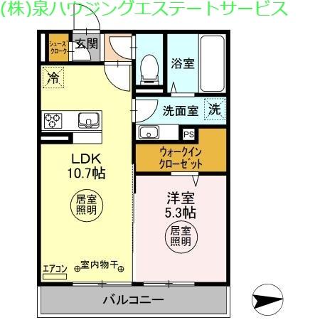 セレーノ 2階の物件の間取図
