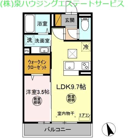 コンフォートⅢ A 1階の物件の間取図