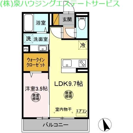 コンフォートⅢ A 2階の物件の間取図
