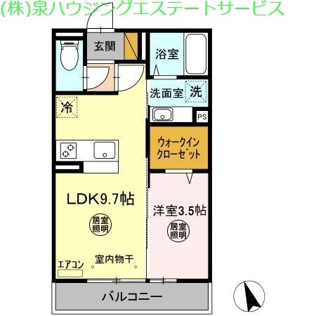 コンフォートⅢ A 3階の物件の間取図