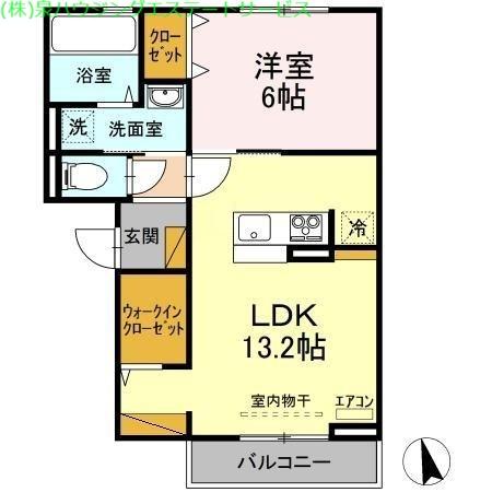 かすみそう 2階の物件の間取図